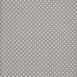 Toile cirée  - A.u maison - stars grey - Turquoise