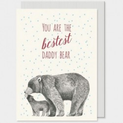 Carte postale - Animals -  East of India - Daddy bear