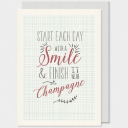 Carte postale - Typography - East of India - Start each day