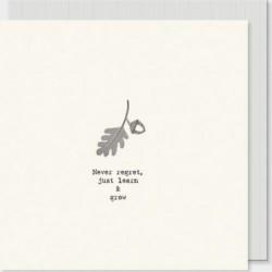 Carte postale carrée - East of India - Never regret