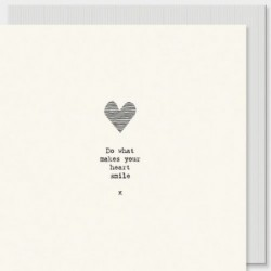 Carte postale carrée - East of India - Heart smile