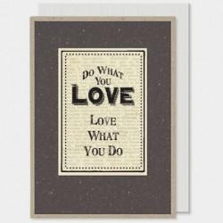 Carte postale -  Black - East of India -Love