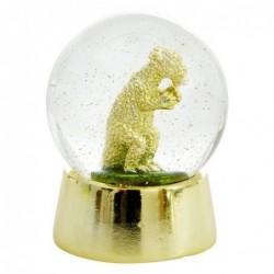 Boule à neige - Rice - Dinosaure dorée