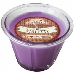 Bougie parfumée - Violette - Comptoir de Famille