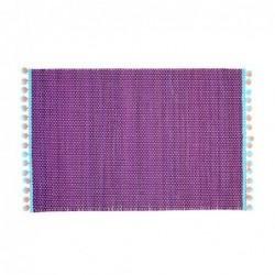 Set de table en bamboo & pompons - Rice - Violet