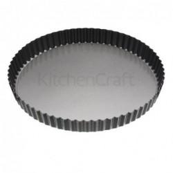 Moule à quiche cannelé - Kitchen Craft - Antidérapante - 28 cm