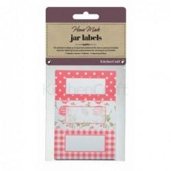 Étiquettes à confiture - Kitchen Craft - Rose
