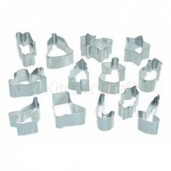 Lot de 13 emporte-pièces - Chirstmas - metal