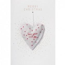 Carte de Noel - Gaze cœur - Rader