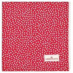 Serviette de table - Greengate - dentelle - Dot red
