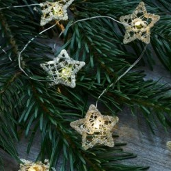 Guirlande lumineuse LED - Sirius - Edith Star - 16L - Gold