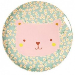 Assiette plate mélamine - Rice - Animal - Ours