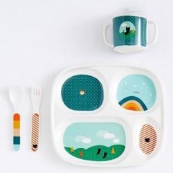 Coffret de vaisselle en mélamine - Rainbow & Cat - Bandjo