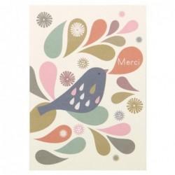 Carte postale - Mini Labo - Merci - Oiseau
