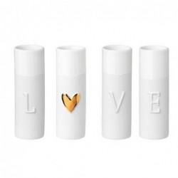 Soliflores en porcelaine - Love - Rader