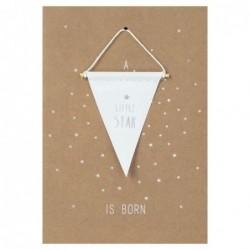 Carte postale - Fanion - A little star is born - Rader