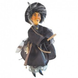 Sorcière - Witches of Pendle - Agatha - Gris - 24 cm