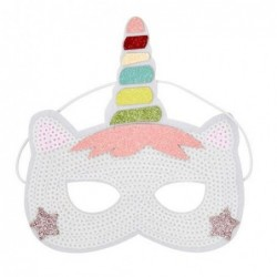 Masque paillettes - Rice - Licorne