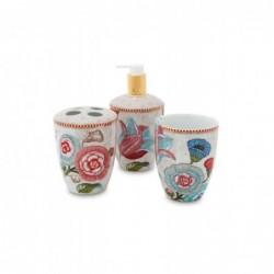 Coffret de 3 accessoires bain - Spring to life - Crème - Pip Studio
