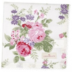 Serviette de table - Greengate - dentelle - Rose white