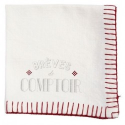 Set de 4 serviettes de table - Brèves de Comptoir - Comptoir de Famille