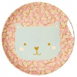 Assiette plate mélamine - Rice - Animal - Chat