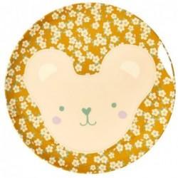 Assiette plate mélamine - Rice - Animal - Teddy