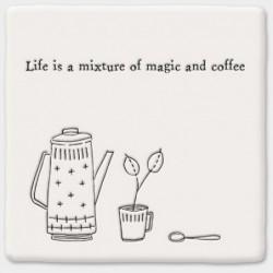 Dessous de verre porcelaine - East of India - Magic & coffee