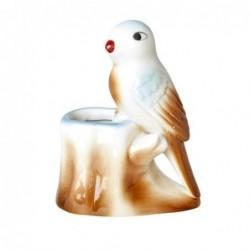 Oiseau décoratif - Rice - porcelaine - bec rouge