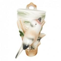 Oiseau décoratif - Rice - porcelaine - vase mural