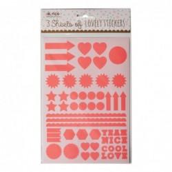 Planches d'étiquettes - Lot de 3 - Rice - Orange fluo