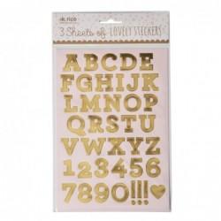 Planches d'étiquettes - Lot de 3 - Rice - Lettres dorées