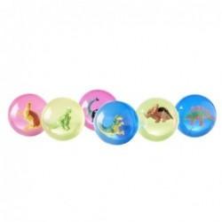 Lot de 6 balles rebondissantes - Rice - Dinosaures