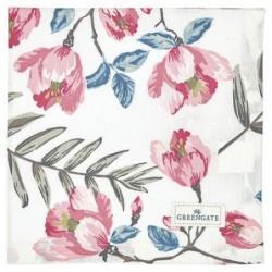 Serviette de table - Greengate - Magnolia white