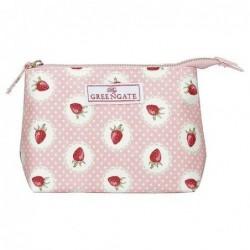 Trousse à maquillage - Petit modèle - Greengate - Stawberry pale pink