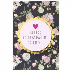 Carte postale - Rice - Hello champagne friend