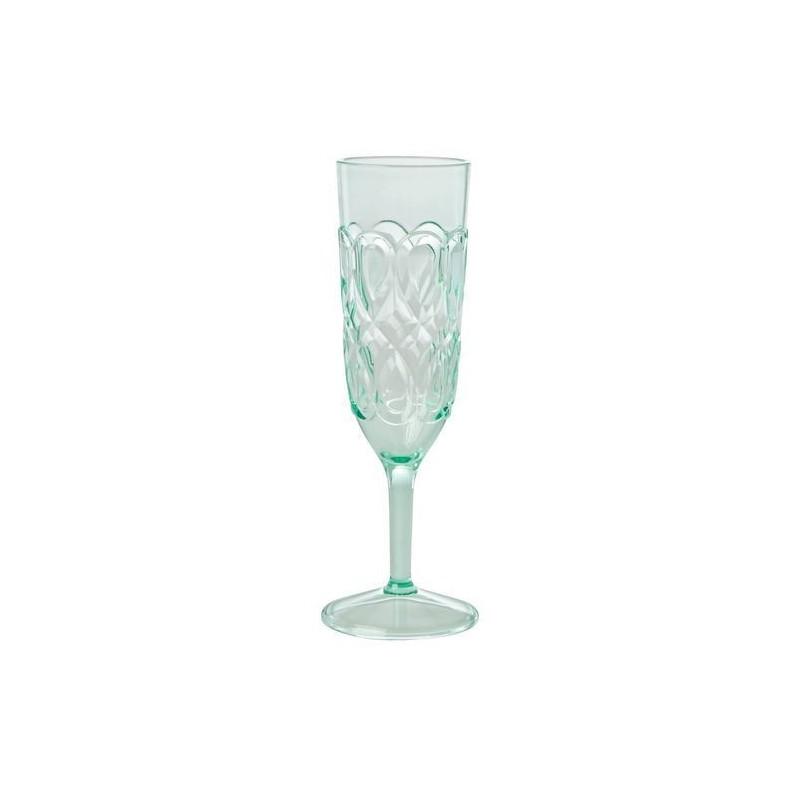 Flûte à champagne - Rice - Acrylique - Vert