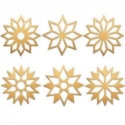 Lot de 6 étoiles décoratives - Rader - Or
