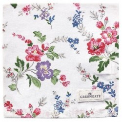 Serviette de table - Greengate - Isobel white