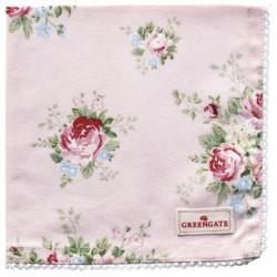 Serviette de table - Greengate - dentelle - Aurélia pale pink