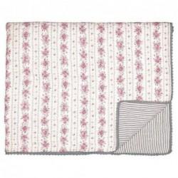 Couverture en coton - 140x220 - Flora vintage - Greengate