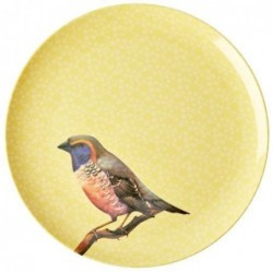Assiette mélamine - Rice - Vintage Bird - Yellow - 25 cm