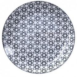 Assiette 25.7cm - Tokyo Design - Nippon Black - Stripe
