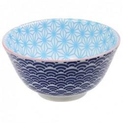 Bol à riz - Tokyo Design - Star Wave Ligth blue Dark blue