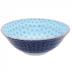 Bol à nouilles - Tokyo Design -  Star Wave Ligth blue Dark blue