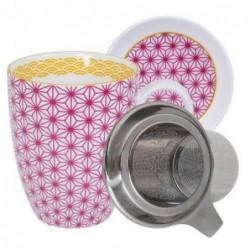 Mug couvercle et filtre - Tokyo Design - Star Wave - Pink