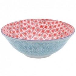 Bol à nouilles - Tokyo Design -  Star Wave Red Ligth blue