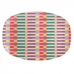 Assiette rectangulaire Mélamine - Plateau Rice - Summer Stripes