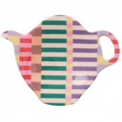 Coupelle à sachet de thé - Mélamine Rice - Summer Stripe