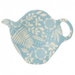 Coupelle à sachet de thé - Mélamine Rice - Fern & Flower blue